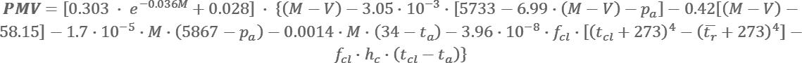 Ecuación de confort de Fanger