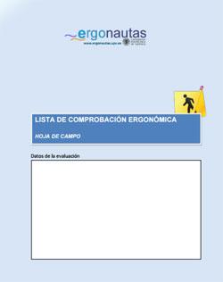 Hoja de Campo para la Lista de Comprobación Ergonómica de Ergonautas