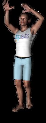 ergonautas - OWAS - Dos brazos elevados.