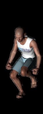 ergonautas - OWAS - Dos piernas flexionadas y el peso desequilibrado.