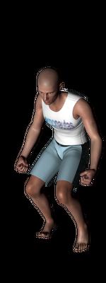 ergonautas - OWAS - Dos piernas flexionadas y el peso equilibrado.