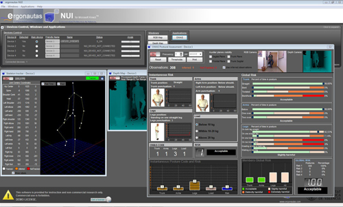 Ergonautas - NUI. Software para el uso de Kinect aplicado a la ergonomía.